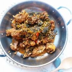 腌萝卜菜烧鸭