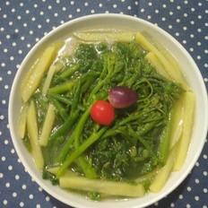 南瓜蔓土豆汤