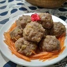 清蒸榨菜肉丸