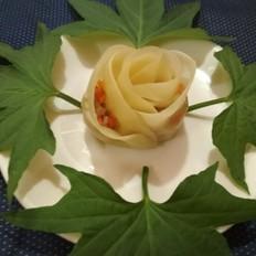 一朵玫瑰花饺