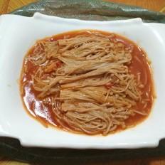 豆瓣酱金针菇