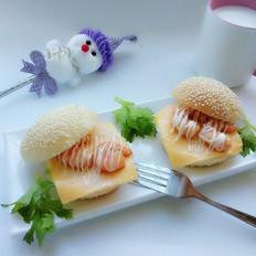 迷你虾仁小汉堡早餐