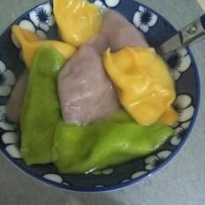 彩色手工饺