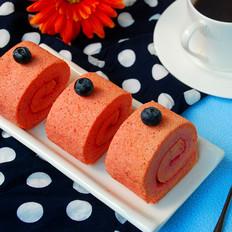 红心火龙果蛋糕卷
