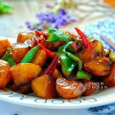 红亮鲜香的红烧小土豆块
