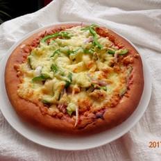 鸡肉鲜蔬披萨