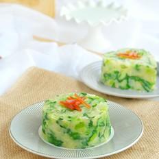 小白菜炒土豆泥