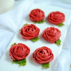 豆沙玫瑰曲奇(无油)