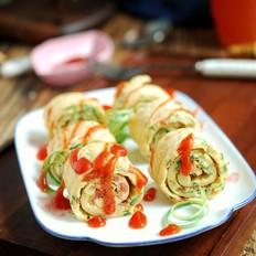 鸡蛋蔬菜卷