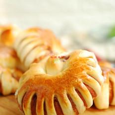 豆沙圈面包