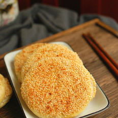 发面芝麻油酥烧饼