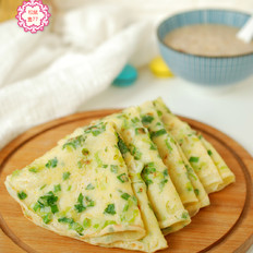 玉米面香葱早餐饼