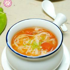 金针菇番茄汤