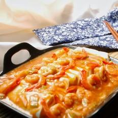 微波炉虾仁烩豆腐