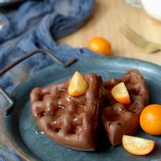 香气浓郁巧克力华夫饼,做法超简单