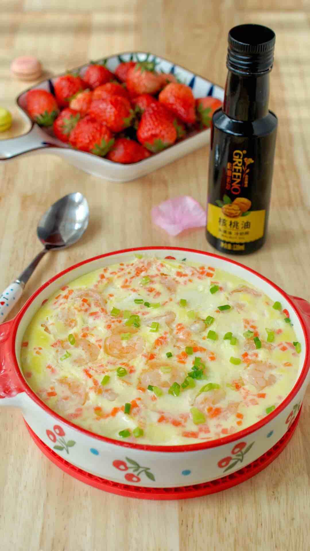宝宝营养餐——油淋虾仁豆腐鸡蛋羹