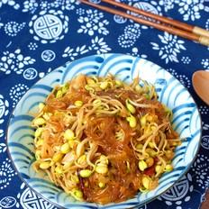 黄豆芽炒粉条,好吃下饭,粉条不粘不坨