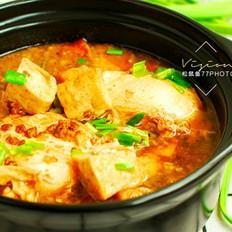 砂锅豆腐炖鸡蛋,热乎乎好吃又下饭的做法