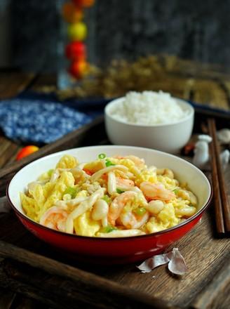 白玉菇炒虾仁