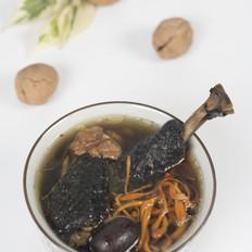 核桃虫草花煲鸡汤