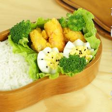 香酥黄金虾盒饭