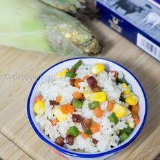 玉米胡萝卜香肠炒饭