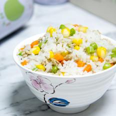 玉米豆角肉末炒饭
