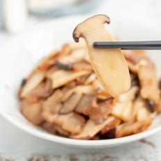 五花肉炒杏鲍菇