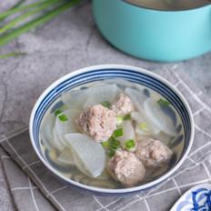 白萝卜肉丸汤的做法