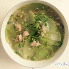 伏瓜肉末汤