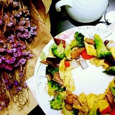 五彩花环凉拌菜