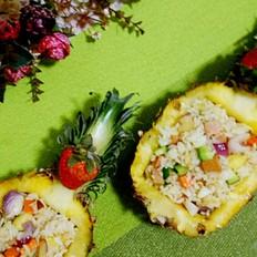 五彩菠萝饭