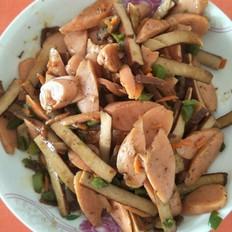 肉条炒火腿豆干
