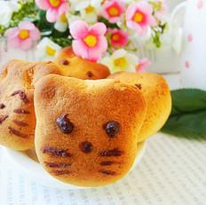 可爱的猫脸烧果子