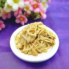 豆皮拌金针菇