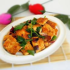 蒜蓉酱煎豆腐