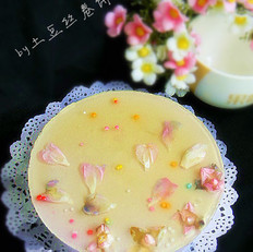 桃花紫薯慕斯蛋糕