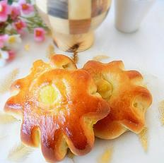 奶黄馅卷花面包