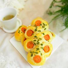 葱香香肠面包