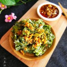 蒜香蒸芹菜叶