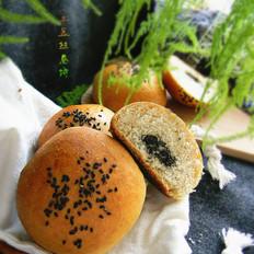 黑芝麻椰蓉全麦包