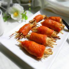 金针菇鸡肉卷