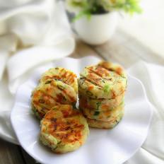 火腿香葱土豆饼