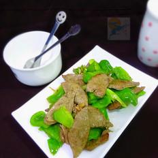 羊肝炒青椒