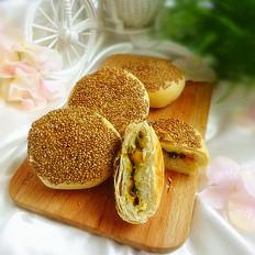 芝麻蛋黄烤饼