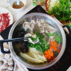 羊肉杂蔬火锅