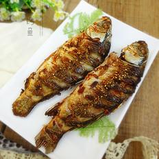 孜然烤鱼的做法