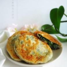 菠菜粉丝发面饼