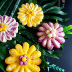 花开锦绣——太阳花馒头