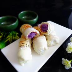 巧克力紫薯酥角